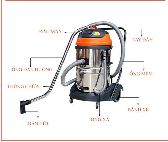 Palada PD70 - Model máy hút bụi công nghiệp nổi bật của Palada